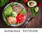 Healthy salad bowl with quinoa  ...