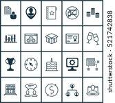 set of 20 universal editable... | Shutterstock .eps vector #521742838