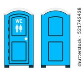 Mobile Toilet Isolated On Whit...
