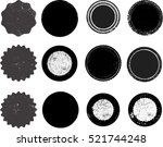 grunge post stamps collection ... | Shutterstock .eps vector #521744248