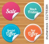 round stickers or website... | Shutterstock .eps vector #521755384