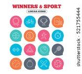 winners and sport icons. winner ... | Shutterstock .eps vector #521755444