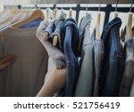 Stock photo clothing wardrobe fashion trend concept 521756419