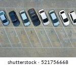 empty parking lots  aerial view. | Shutterstock . vector #521756668
