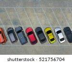 empty parking lots  aerial view. | Shutterstock . vector #521756704