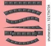 film strip frame set | Shutterstock .eps vector #521756734