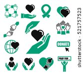 donate  charity icon set | Shutterstock .eps vector #521757523