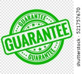 vector guarantee stamp isolated ... | Shutterstock .eps vector #521757670