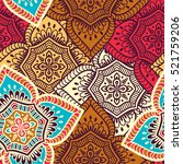 ethnic floral seamless pattern | Shutterstock .eps vector #521759206
