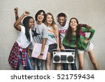 teenagers lifestyle casual... | Shutterstock . vector #521759434