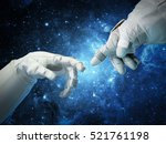 Astronaut Hands And On Outer...