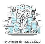illustration of modern line... | Shutterstock . vector #521762320