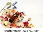 various bright medicinal herb... | Shutterstock . vector #521763739
