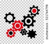 gears mechanism icon. vector... | Shutterstock .eps vector #521764798