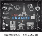 vector france hand drawn... | Shutterstock .eps vector #521765218