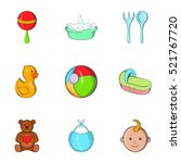 child icons set. cartoon... | Shutterstock . vector #521767720