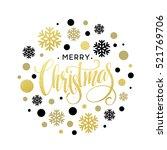 merry christmas gold glittering ...   Shutterstock .eps vector #521769706