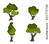 trees nature green collection.... | Shutterstock .eps vector #521772730