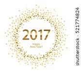 golden splash or glittering...   Shutterstock .eps vector #521774824