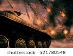 Retro Army Tank In The Field O...