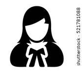 woman advocate   lawyer icon  ... | Shutterstock .eps vector #521781088
