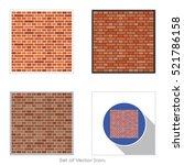 brick work icon. set of flat...   Shutterstock .eps vector #521786158