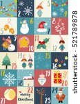 advent calendar.christmas... | Shutterstock .eps vector #521789878