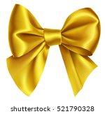 beautiful decorative golden bow ... | Shutterstock .eps vector #521790328