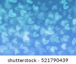 valentine's day. blue...   Shutterstock . vector #521790439