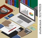 accounting analyst at the... | Shutterstock .eps vector #521790523