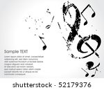 grunge musical background theme, vector Illustration