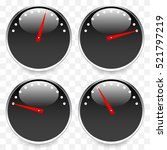 meters  dials with red pointer. ... | Shutterstock .eps vector #521797219