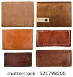 leather jeans labels  leather... | Shutterstock . vector #521798200