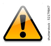 warning sign | Shutterstock .eps vector #52179847