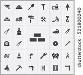 bricks wall icon. construction... | Shutterstock .eps vector #521800240