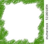 natural christmas square frame... | Shutterstock .eps vector #521801854