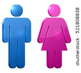 blue and pink male and female... | Shutterstock .eps vector #521808838