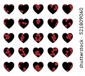stained glass heart vector crack | Shutterstock .eps vector #521809060