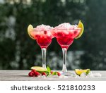 margarita cocktail with lime... | Shutterstock . vector #521810233