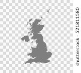united kingdom map on chess... | Shutterstock .eps vector #521811580