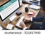 mortgage loan request...   Shutterstock . vector #521817400