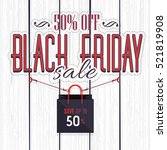 black friday sale website... | Shutterstock .eps vector #521819908
