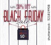 black friday sale website... | Shutterstock .eps vector #521819908
