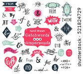 big collection of hand lettered ...   Shutterstock .eps vector #521824729