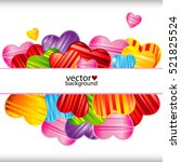 vector valentine's day...   Shutterstock .eps vector #521825524