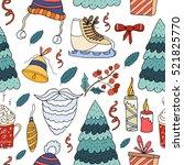 seamless pattern merry... | Shutterstock .eps vector #521825770