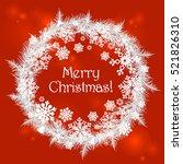 merry christmas red. vector... | Shutterstock .eps vector #521826310