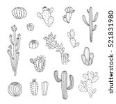 cactus vector graphic set | Shutterstock .eps vector #521831980