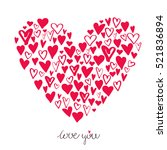 big heart made from small... | Shutterstock .eps vector #521836894