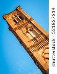 church tower street view. san...   Shutterstock . vector #521837314